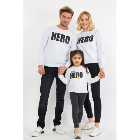 Set Bluze Family Hero Alb