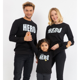 Set Bluze Family Hero Negru
