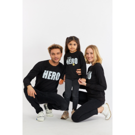 Set Bluze Family Hero Negru