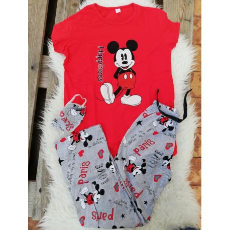 Pijama dama Mickey Rosu