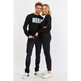 Set bluze pentru El si Ea Hero Negru