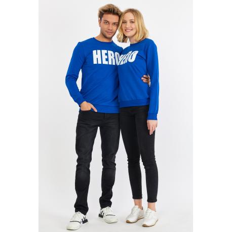 Set bluze pentru El si Ea Hero Albastru