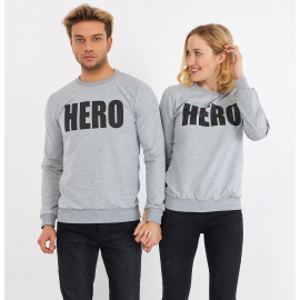 Set bluze pentru El si Ea Hero Gri