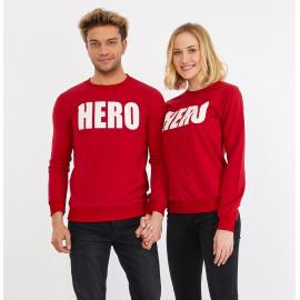 Set bluze pentru El si Ea Hero Rosu
