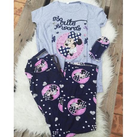 Pijama dama Minnie cute gri