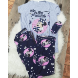 Pijama dama Minnie cute gri