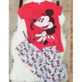 Pijama dama MK Mouse Rosu