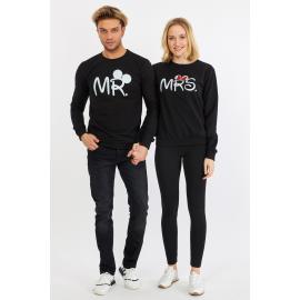 Set bluze pentru El si Ea Mr si Mrs Negru