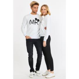 Set bluze pentru El si Ea Mr si Mrs Alb