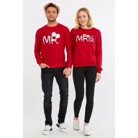 Set bluze pentru El si Ea Mr si Mrs Rosu