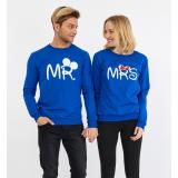 Set bluze pentru El si Ea Mr si Mrs Albastru