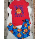 Pijama dama Garfield Rosu