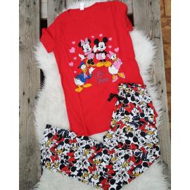 Pijama dama Disney Rosu