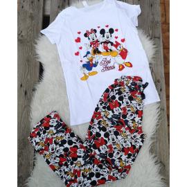 Pijama dama Disney Alb