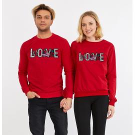 Set bluze pentru El si Ea Love Rosu