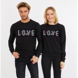 Set bluze pentru El si Ea Love Negru