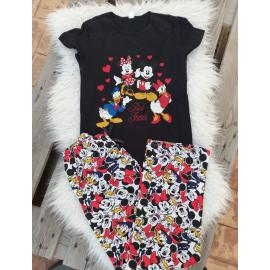 Pijama dama Disney Negru