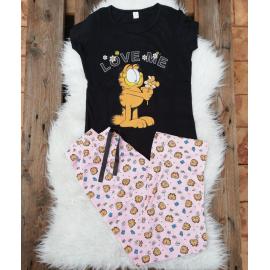 Pijama dama Love Garfield negru