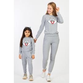 Set Trening Mama-Fiica Bugs Bunny gri
