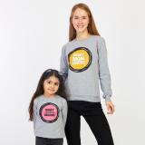 Set bluze Mama-Fiica Best gri