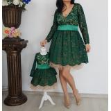 Set rochii Mama- Fiica cu dantela si tull Lidia