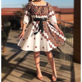 Rochie scurta cu imprimeu multicolor Emilia