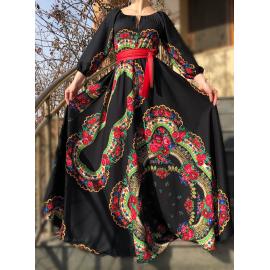 Rochie lunga model Gypsy Samira negru