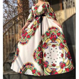 Rochie lunga model Gypsy Samira alb