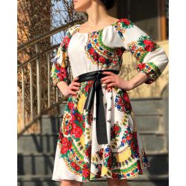 Rochie scurta model Gypsy Samira alb