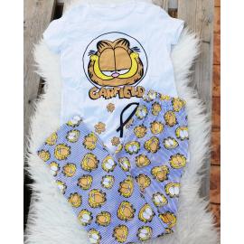 Pijama dama Garfield sleppy alb