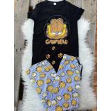 Pijama dama Garfield sleppy negru