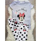 Pijama dama Love Minnie gri