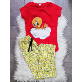 Pijama dama Tweety Cloud rosu