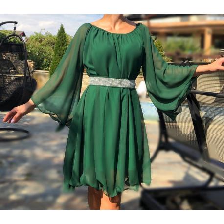 Rochie din voal ampla cu cordon Adda