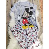 Pijama dama Happy Mickey Gri