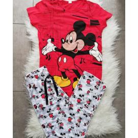 Pijama dama Happy Mickey Rosu