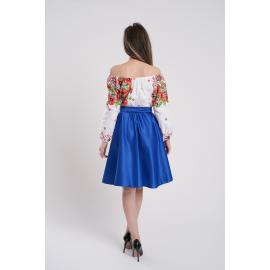Rochie scurta cu motive traditionale Loret albastru