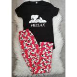 Pijama dama Snoopy negru