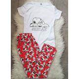 Pijama dama Snoopy alb
