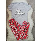 Pijama dama Snoopy Gri