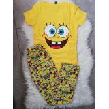 Pijama dama Spongebob galben