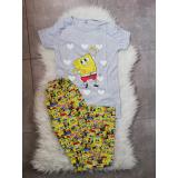 Pijama dama Sponge gri