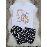 Pijama dama Unicorn Alb