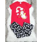 Pijama dama Unicorn Rosu