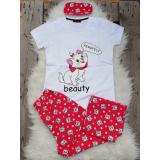 Pijama dama Beauty Cat alb