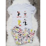 Pijama dama Looney Toons gri