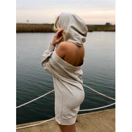 Rochie cu gluga si spatele gol Daiana