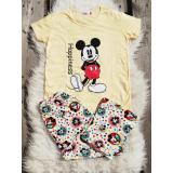 Pijama dama Mickey galben