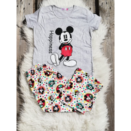 Pijama dama Mickey gri