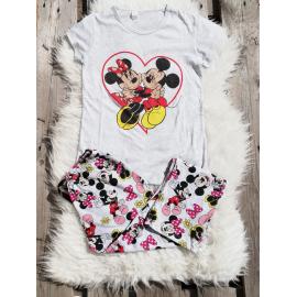 Pijama dama Mickey si Minnie gri